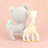 SOPHIE LA GIRAFFE + SOFT LAZARE CAT TOY