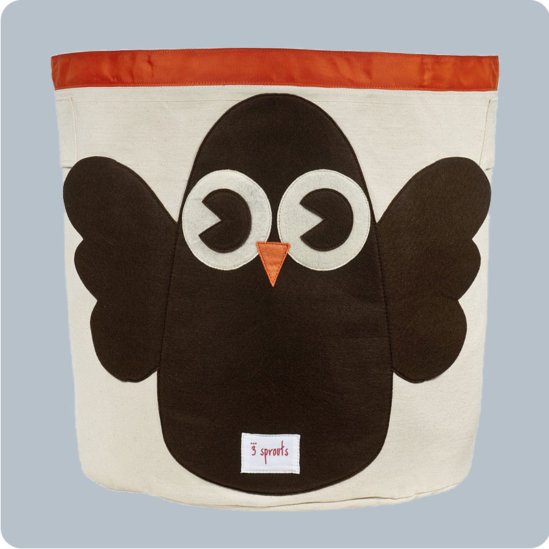 3 SPROUTS STORAGE BIN- OWL