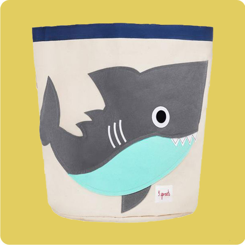 3 SPROUTS STORAGE BIN- SHARK