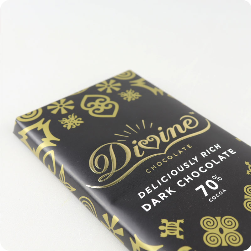 Divine Fairtrade Dark Chocolate Bar 90g
