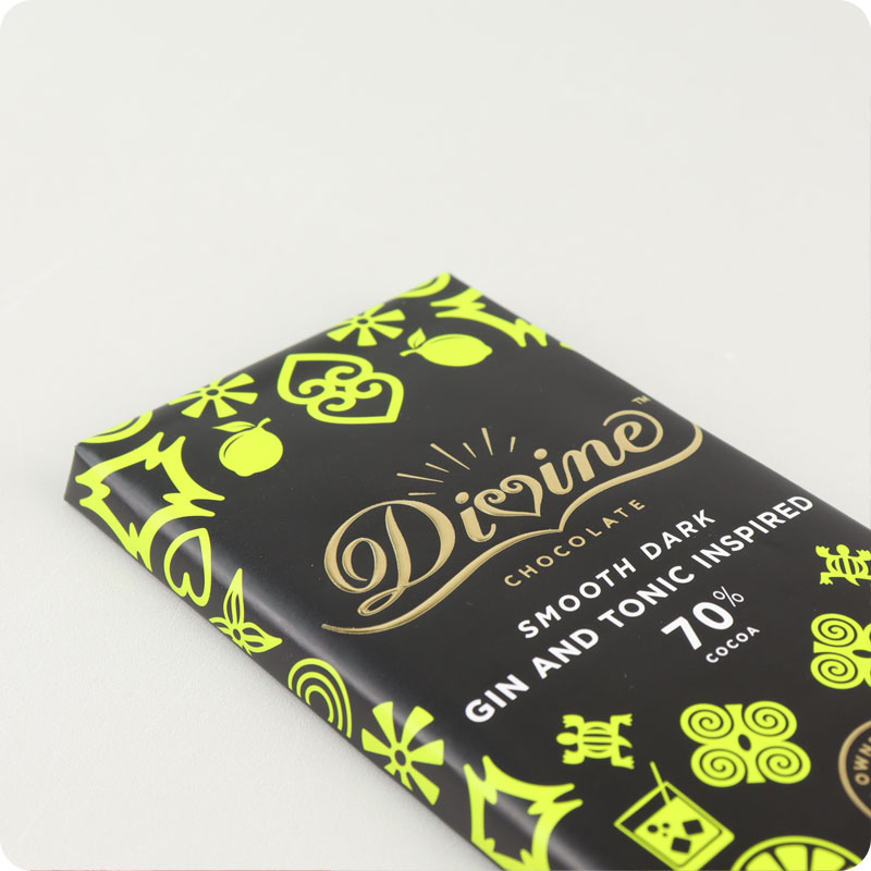 Divine Fairtrade Dark Gin & Tonic Chocolate 90g