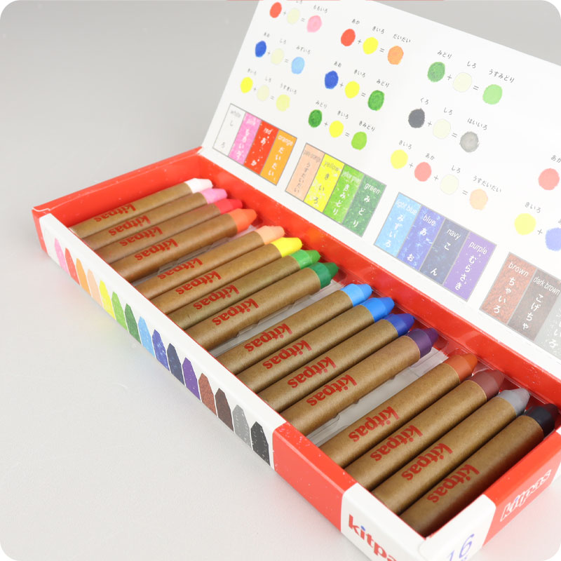 KITPAS CRAYONS - MEDIUM - 16 PACK