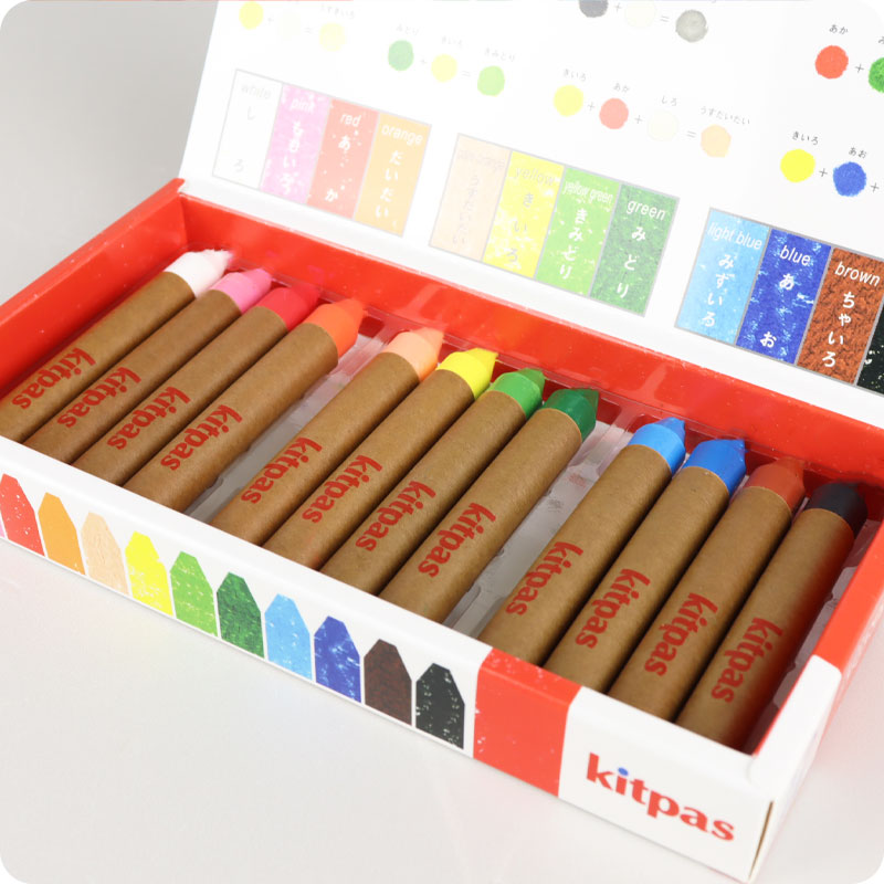 KITPAS CRAYONS - MEDIUM - 12 PACK