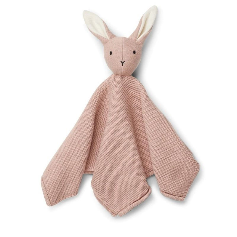 LIEWOOD MILO KNIT CUDDLE CLOTH - RABBIT ROSE