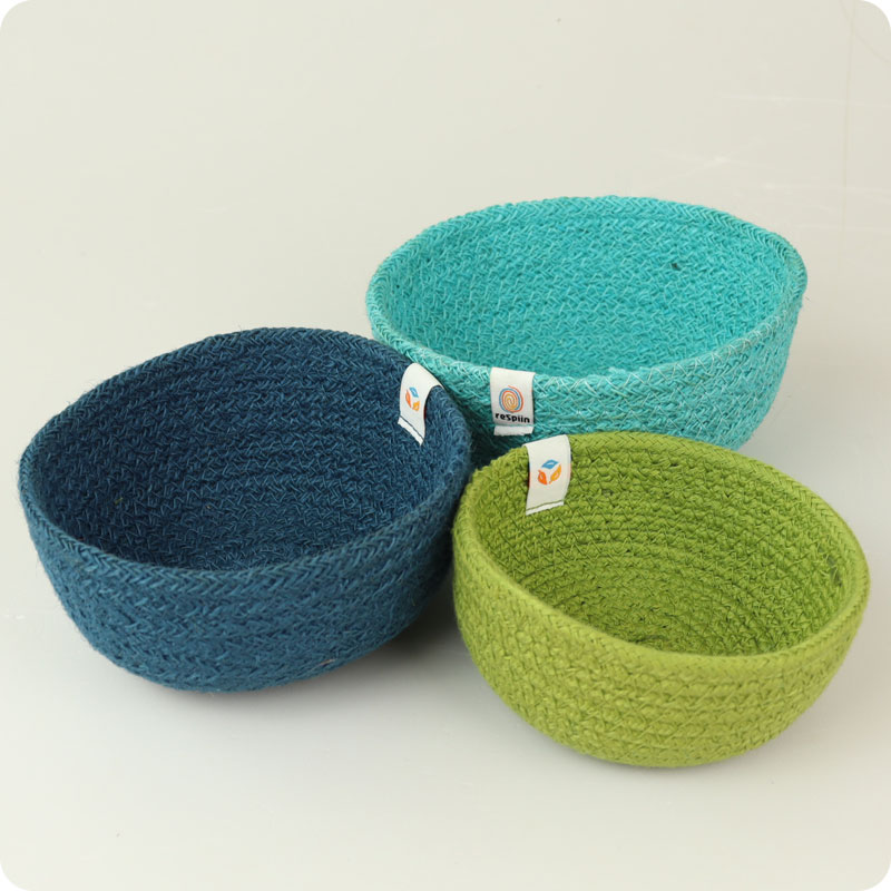 ReSpiin - Jute Mini Bowl Set - Ocean