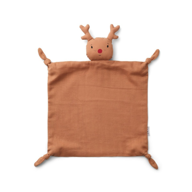 LIEWOOD AGNETE CUDDLE CLOTH - REINDEER TUSCANY ROSE