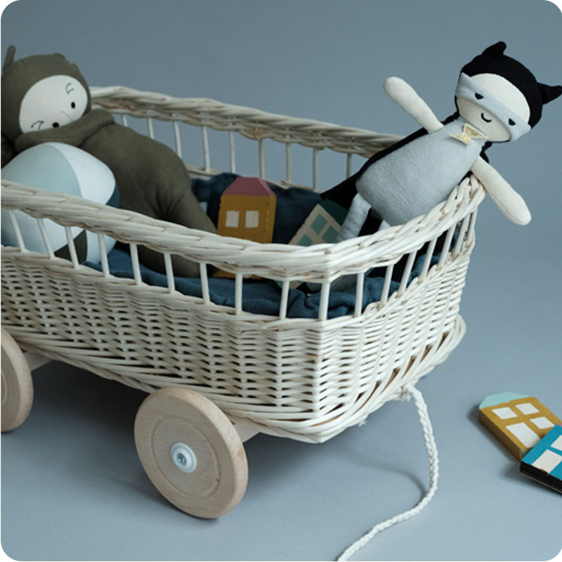 FABELAB PULL WAGON - WHITE