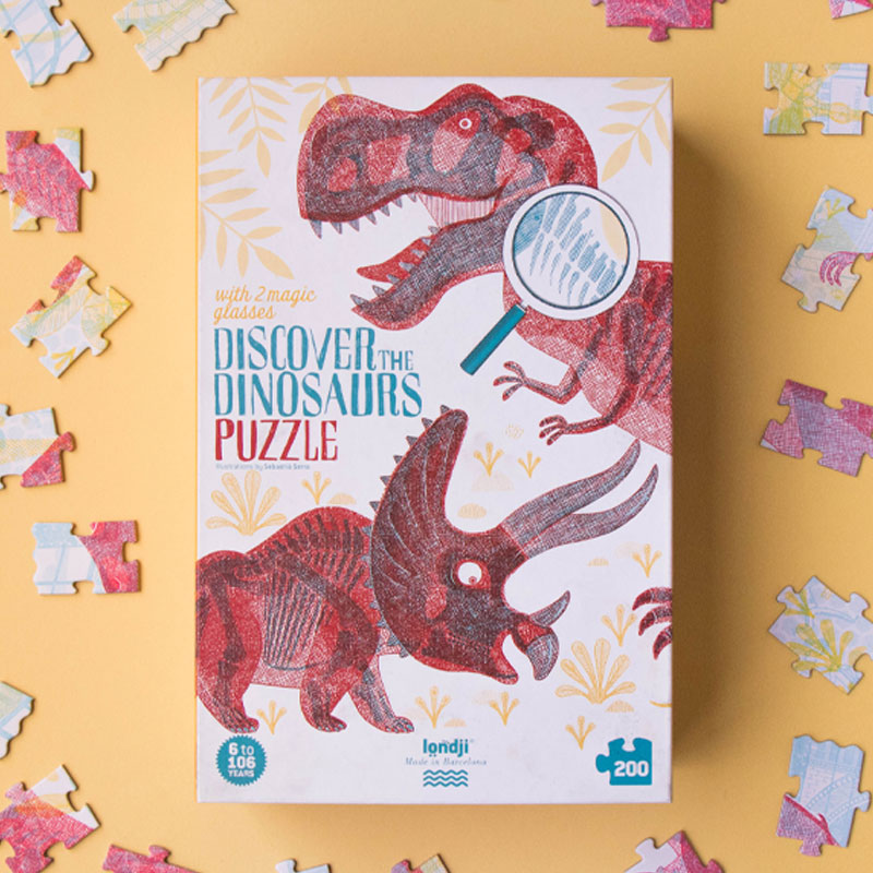 LONDJI DISCOVER THE DINOSAURS PUZZLE
