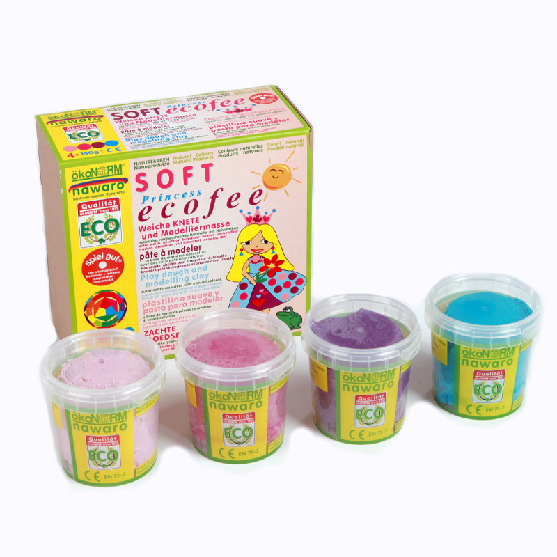 Okonorm Soft Play Dough - 4 Eco Princess Colours
