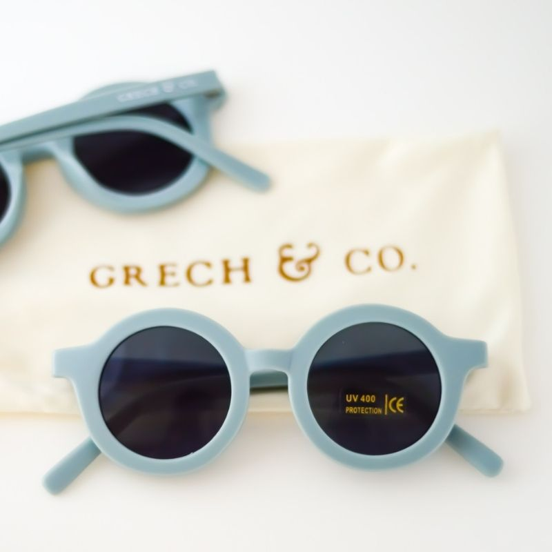 Grech & Co Sustainable Kids Sunglasses - Blue