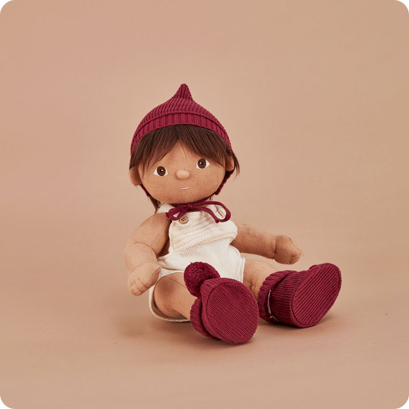 Olli Ella Dinkum Doll Knit Set - Plum