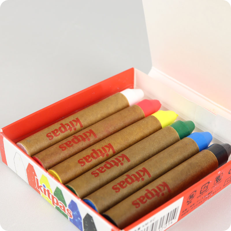 KITPAS CRAYONS - MEDIUM - 6 PACK