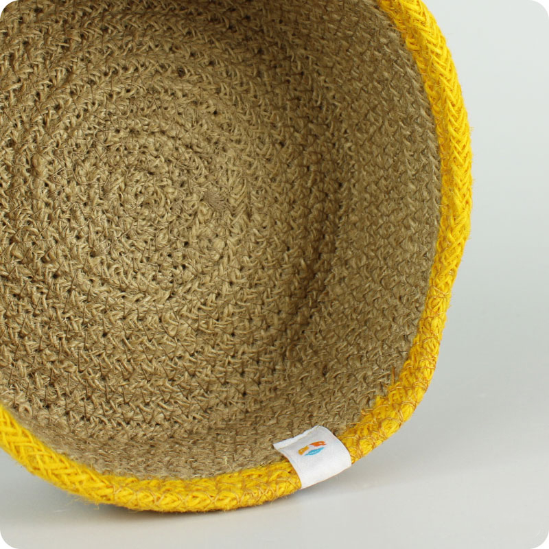 reSpiin - SHALLOW JUTE BASKET - SMALL