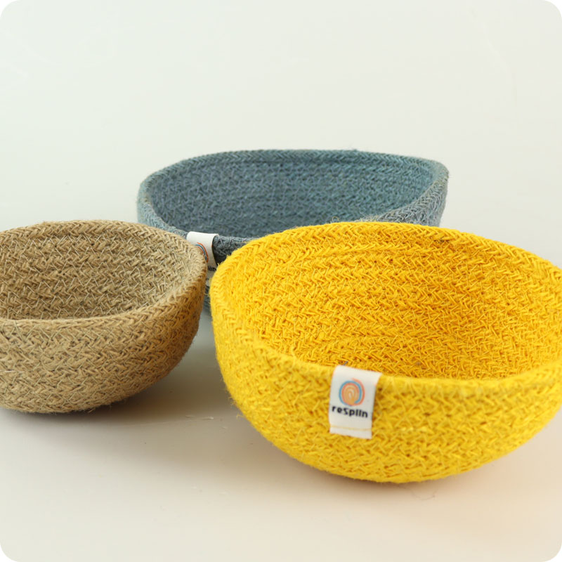 reSpiin - JUTE MINI BOWL SET - BEACH