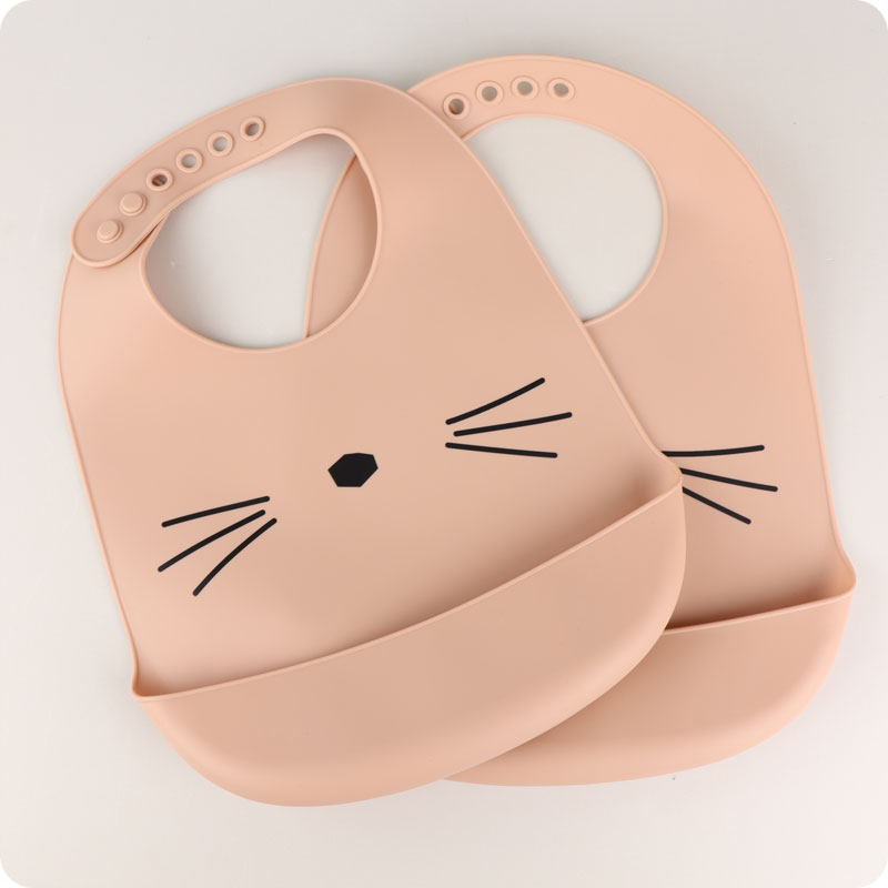 LIEWOOD TILDA SILICONE BIB CAT ROSE - 2 PACK