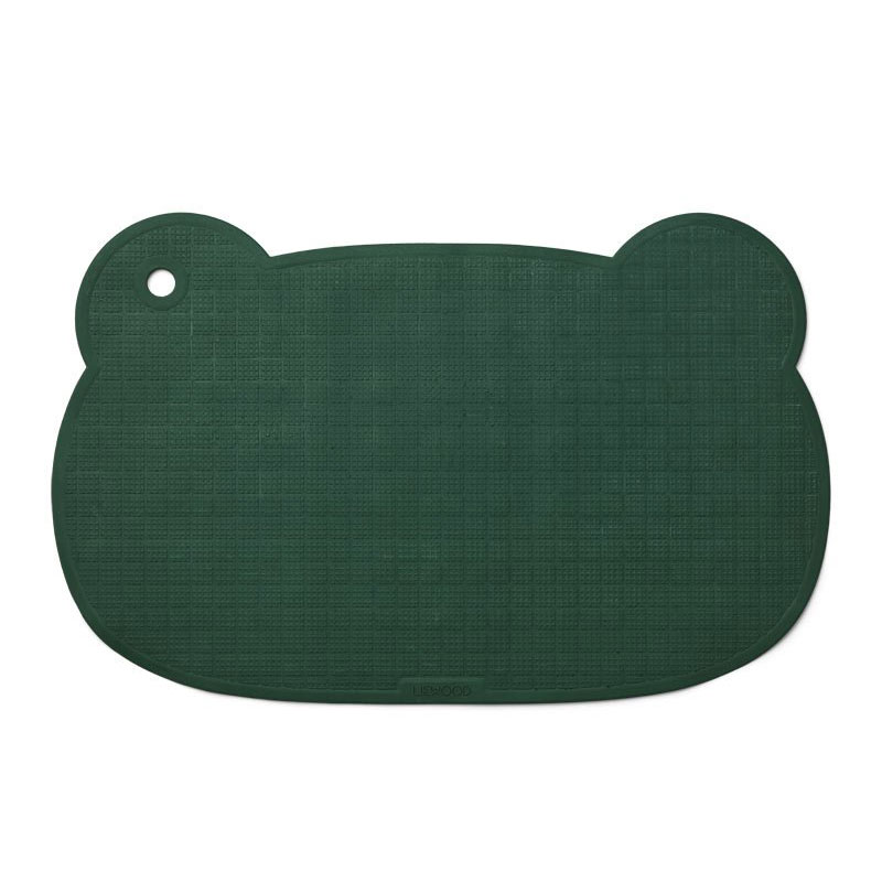LIEWOOD SAILOR BATHMAT - MR BEAR GARDEN GREEN