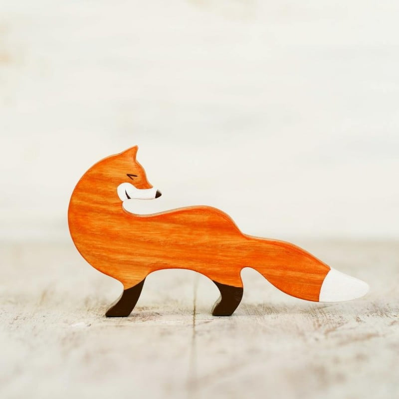 WOODEN CATERPILLAR FOX