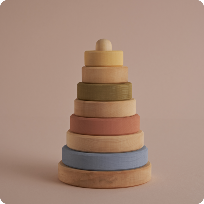 RADUGA GREZ STACKING TOWER  - PASTEL & NATURAL