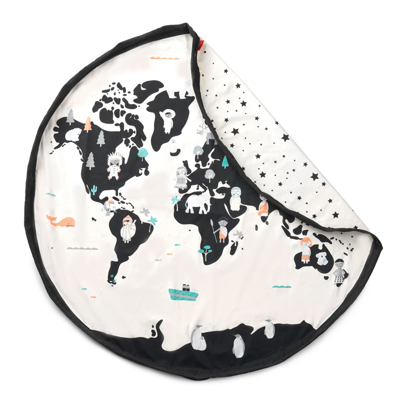 PLAY & GO WORLD MAP & STARS TOY STORAGE BAG