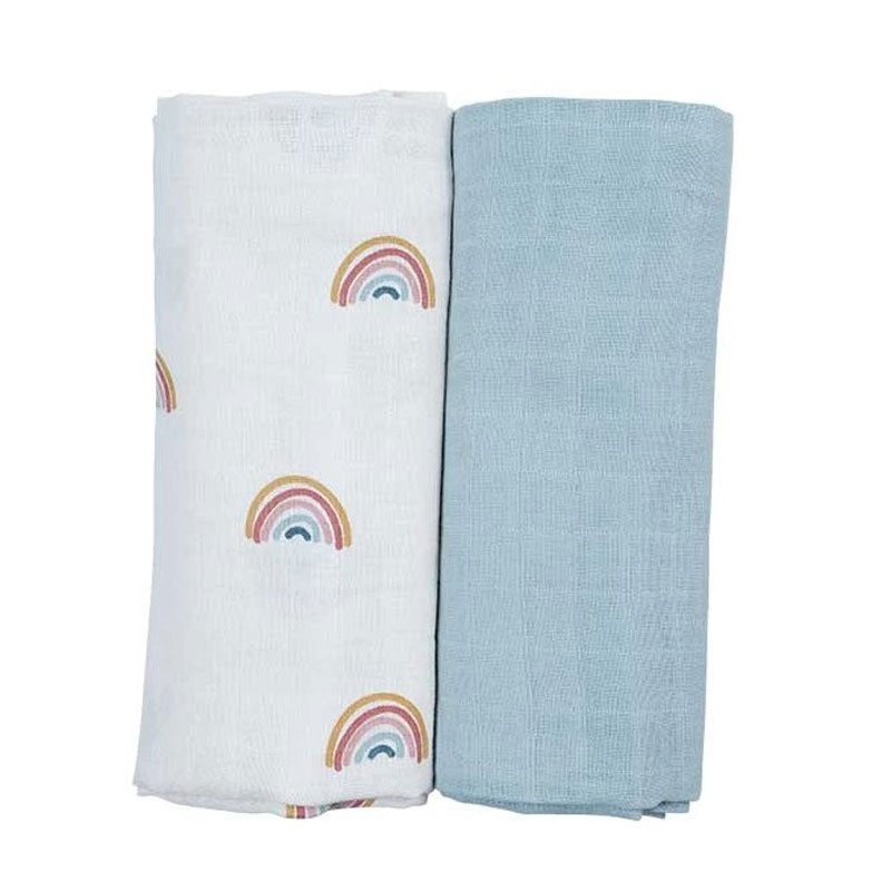 FABELAB SWADDLE 2 PACK -  RAINBOW