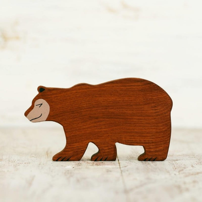 WOODEN CATERPILLAR BEAR