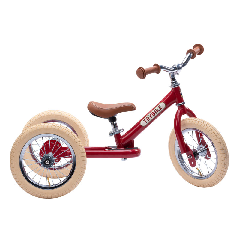 TRYBIKE STEEL 2-IN-1 BALANCE TRIKE - VINTAGE RED