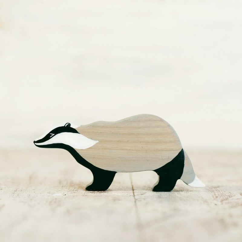 WOODEN CATERPILLAR BADGER